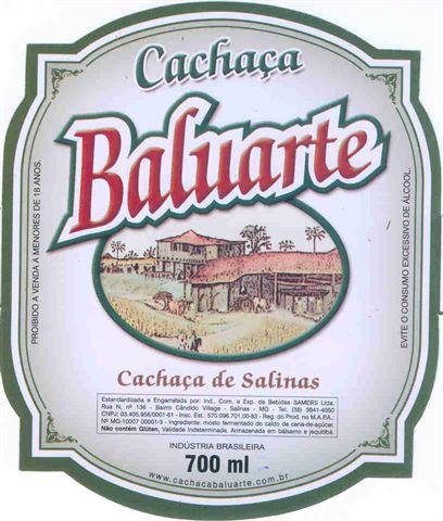 Cachaça Baluarte.