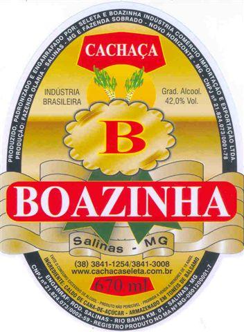 Cachaça Boazinha.