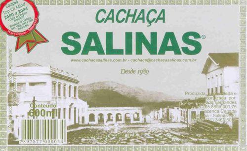 Cachaça Salinas.