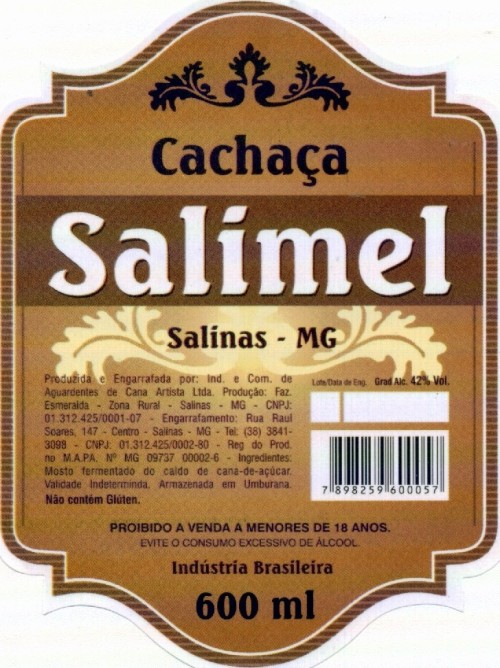 Cachaça Salimel.