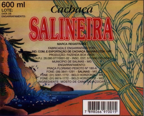 Cachaça Salineira.