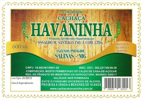 Cachaça Havaninha.