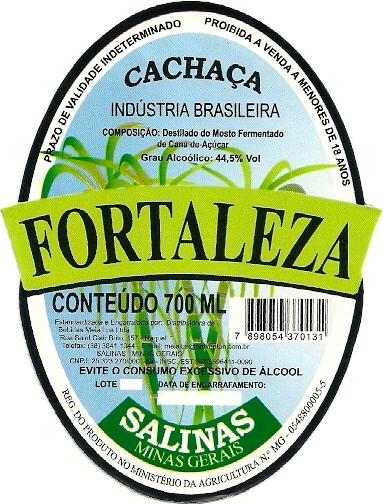 Cachaça Fortaleza.